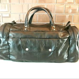Handbags - Leather Black Tote Bag
